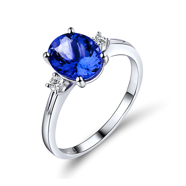 blue tanzanite ring
