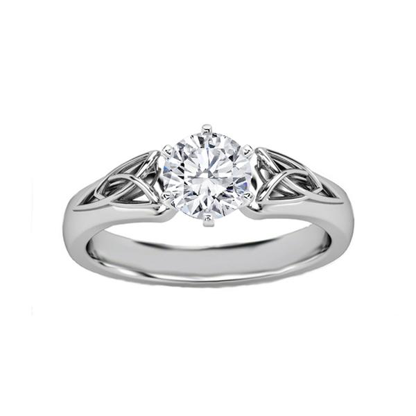 Celtic diamond engagement ring