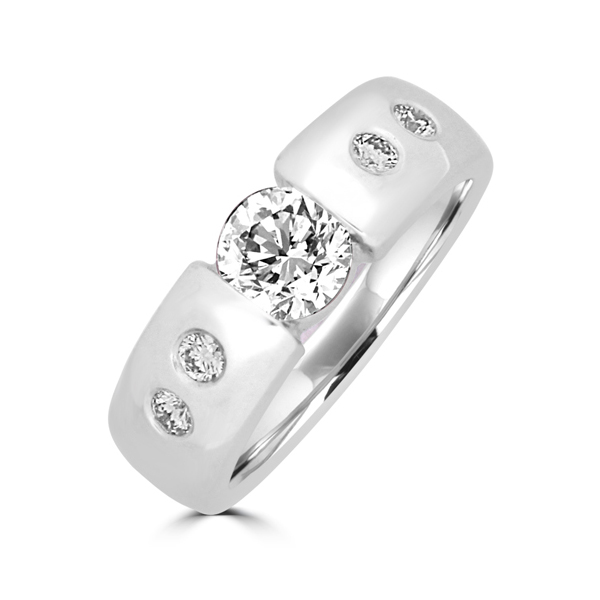 tension set diamond ring