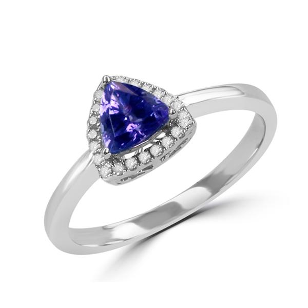 Trillion tanzanite ring