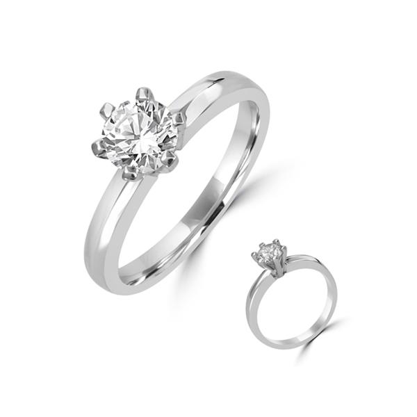 6 claw diamond ring