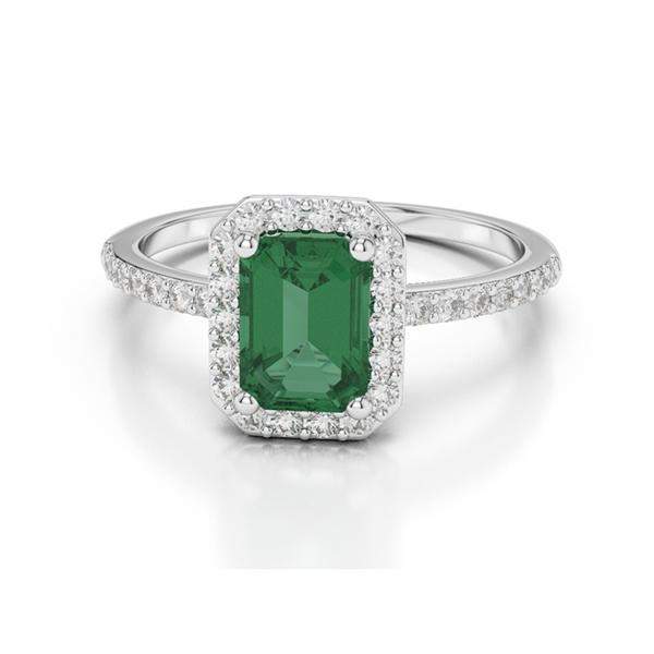 emerald cut emerald ring