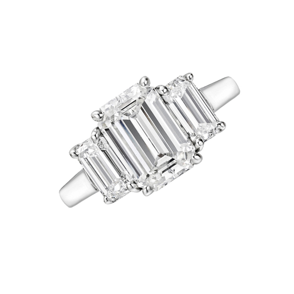 Trilogy emerald cut diamond ring South Africa