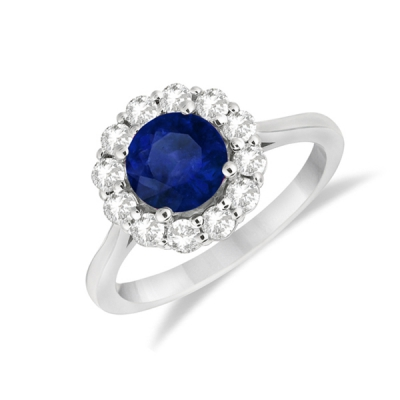 sapphire halo engagement ring
