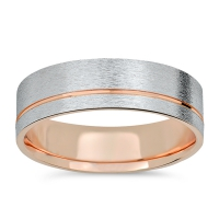 Rose gold ring for men