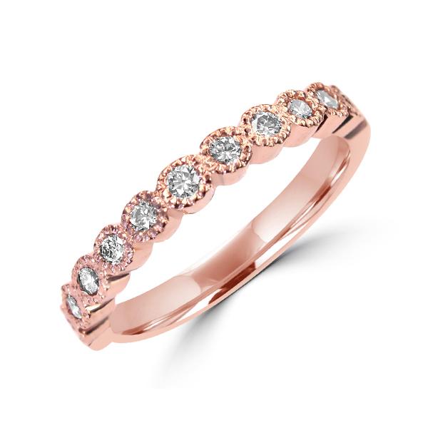 Rose gold diamond wedding ring