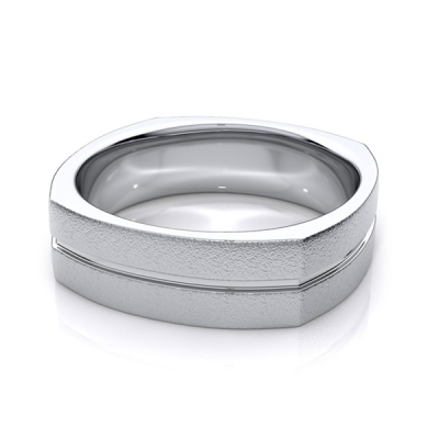 Men's platinum wedding ring