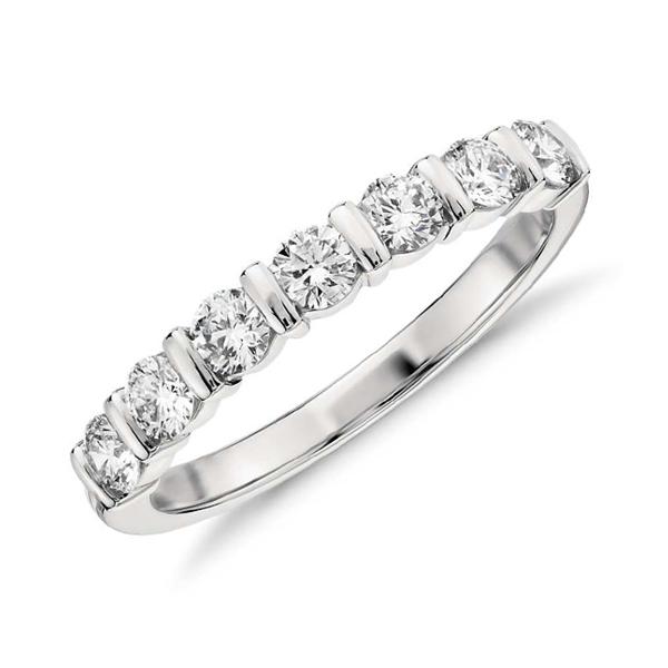 Bar set eternity ring