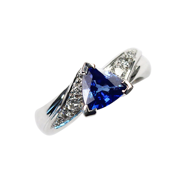 trillion sapphire engagement ring