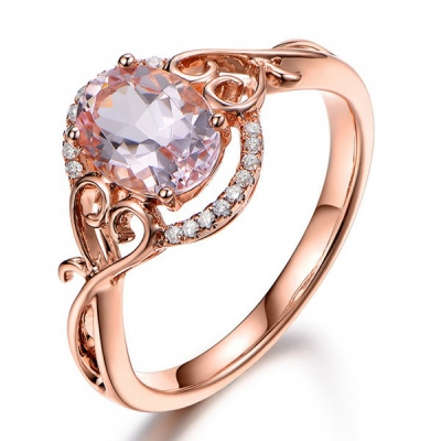 Rose gold and morganite ring