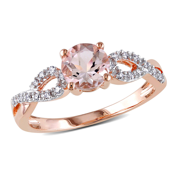 Morganite rose gold