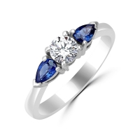 blue sapphire diamond engagement rings