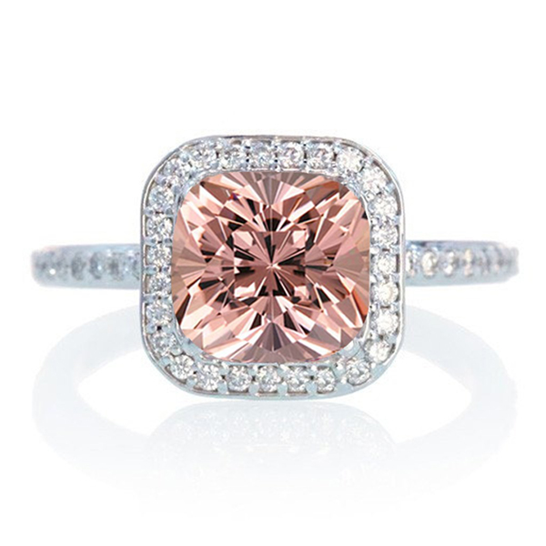 Morganite ring white gold