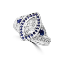 Diamond and sapphire ring South Africa