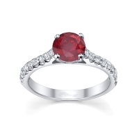 Ruby diamond engagement rings