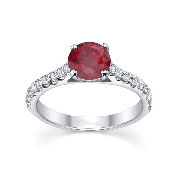 Ruby diamond engagement rings