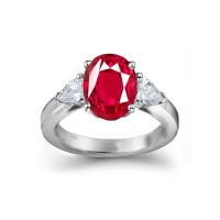 natural ruby engagement rings