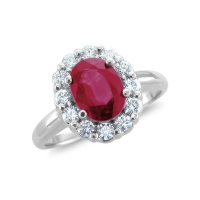 genuine ruby rings