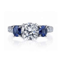 2 carat diamond and sapphire ring