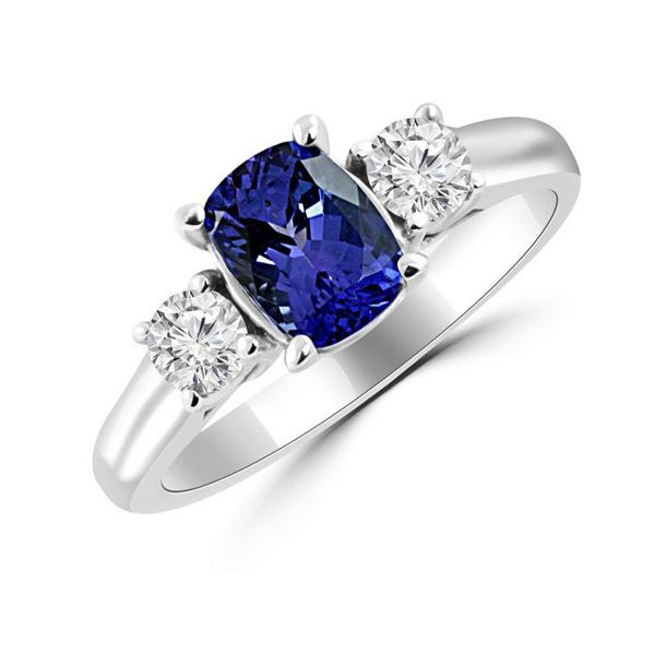 Tanzanite blue ring