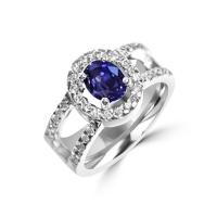 2 carat sapphire engagement ring