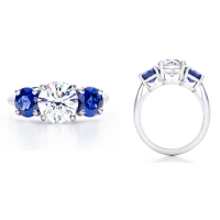 diamond and blue sapphire engagement rings