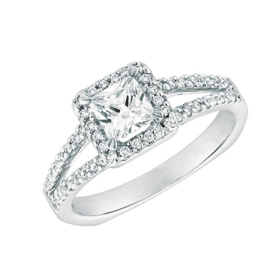 square cut engagement rings
