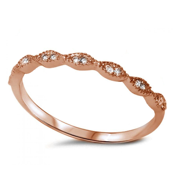 Rose gold vintage wedding ring