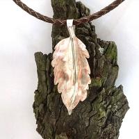 African leaf pendant
