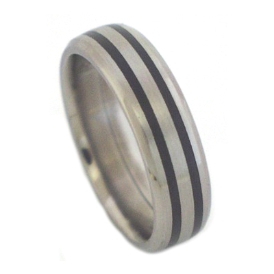 Black mens rings titanium