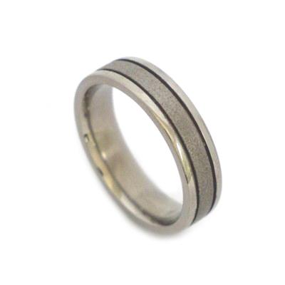 Unique titanium ring
