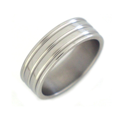 Titanium rings men