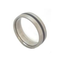 Black titanium wedding rings