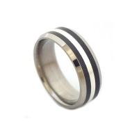 Unique black titanium rings