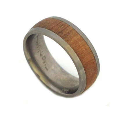 Wild olive wood ring