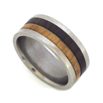 Wooden wedding rings