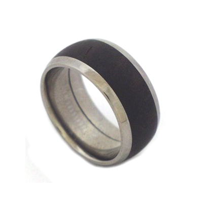 Wood inlay ring