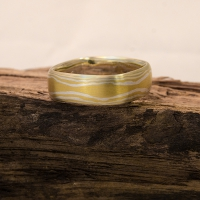 mokume gane wedding ring gold and silver