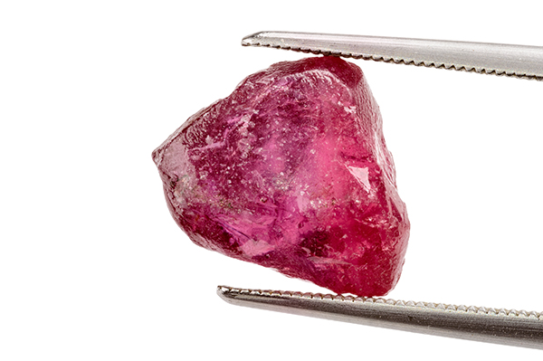 Rough ruby crystal