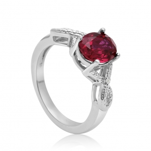 Ruby Engagement Ring (July birthstone)