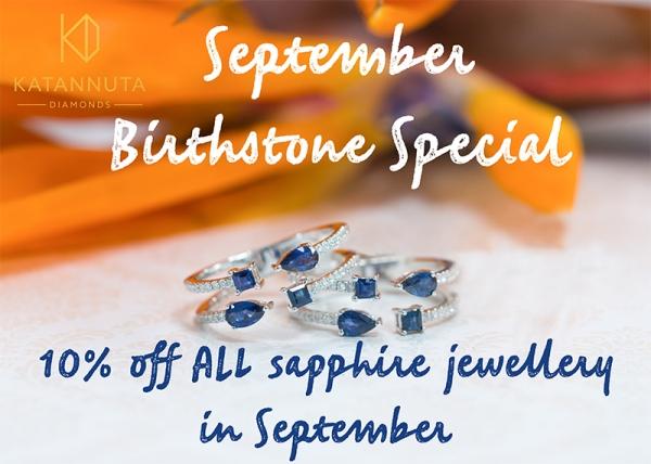 September birthstone sapphire special