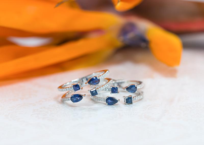 Sapphire rings for September birthstone
