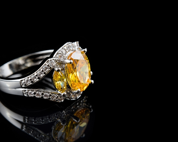Citrine November birthstone cocktail ring