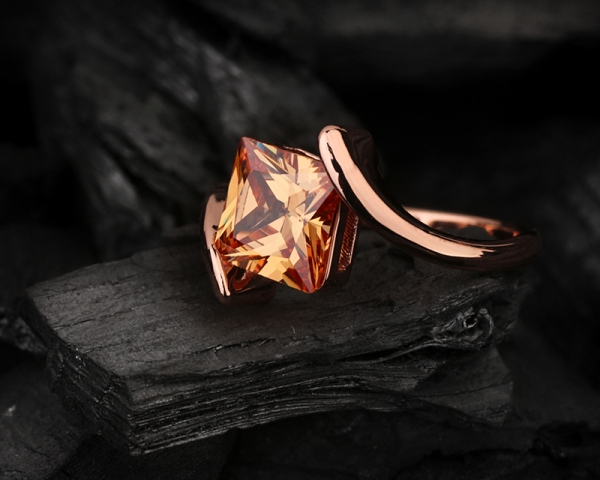 Topaz November birthstone ring