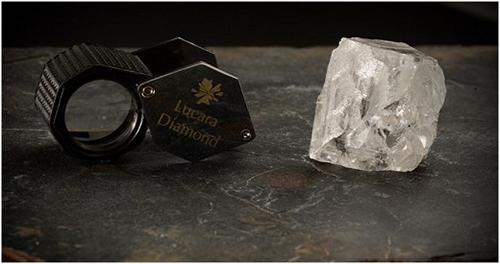Lucara 327ct white diamond