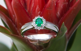 Emerald birthstone ring