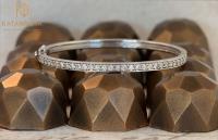 White gold and diamond bangle