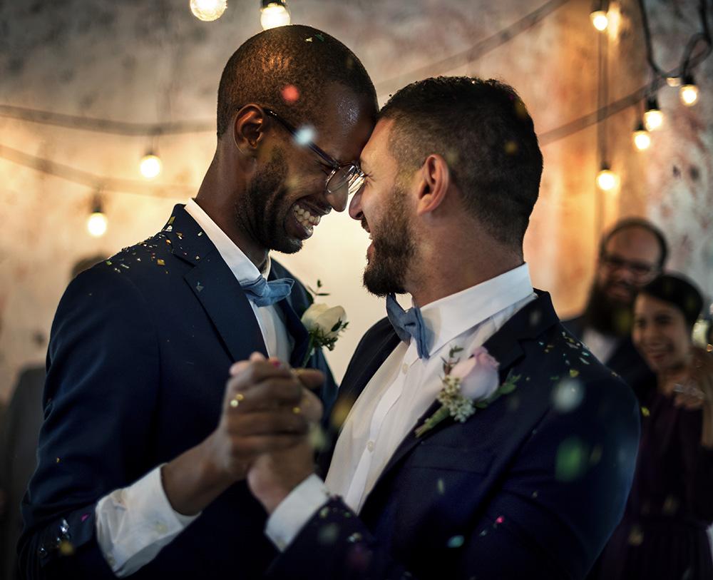 Same-sex wedding rings for men