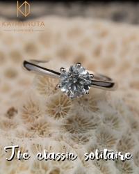 1ct round diamond ring