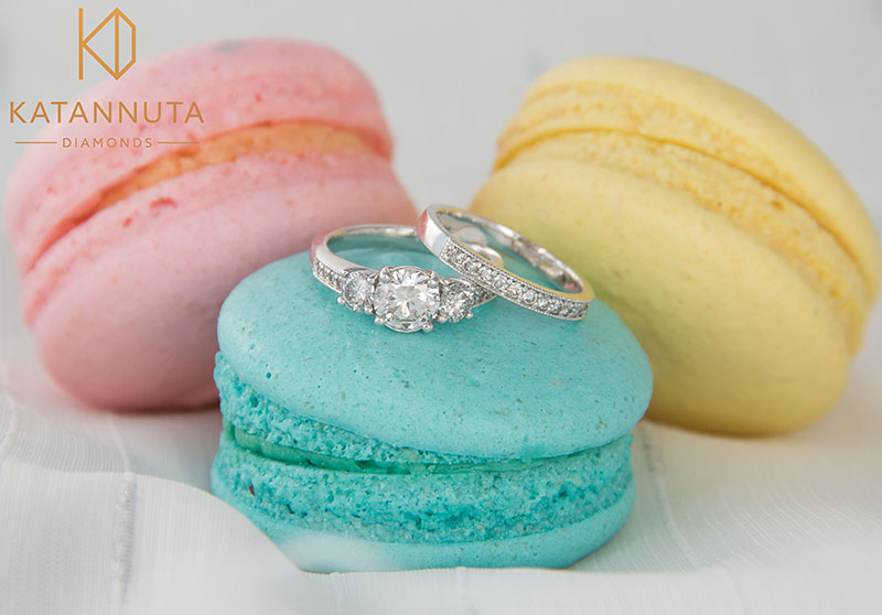 Engagement ring and matching wedding ring